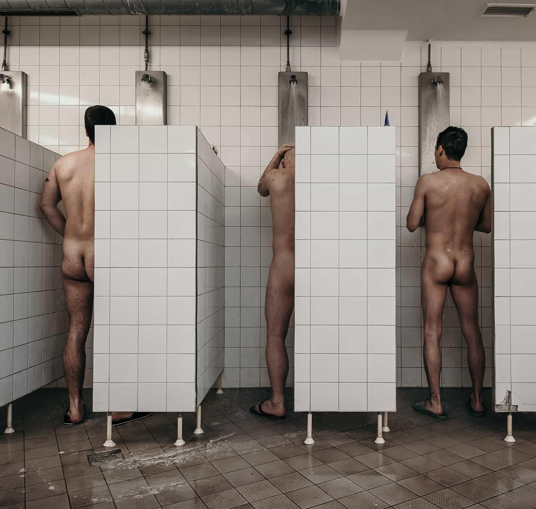 Duschen im Gefängnis Münster