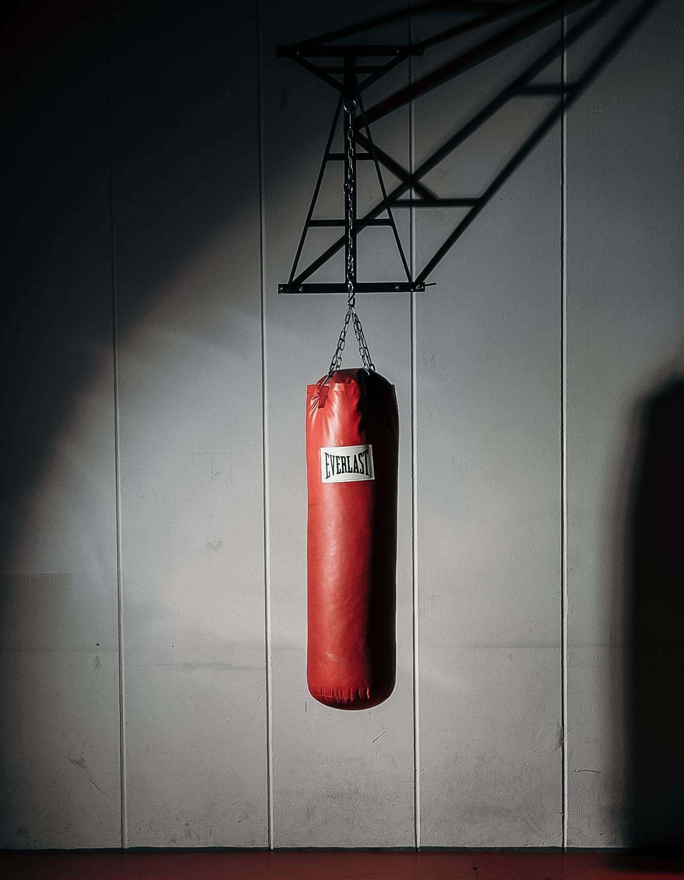 Boxsack Kickboxerin Ansgar Dlugos