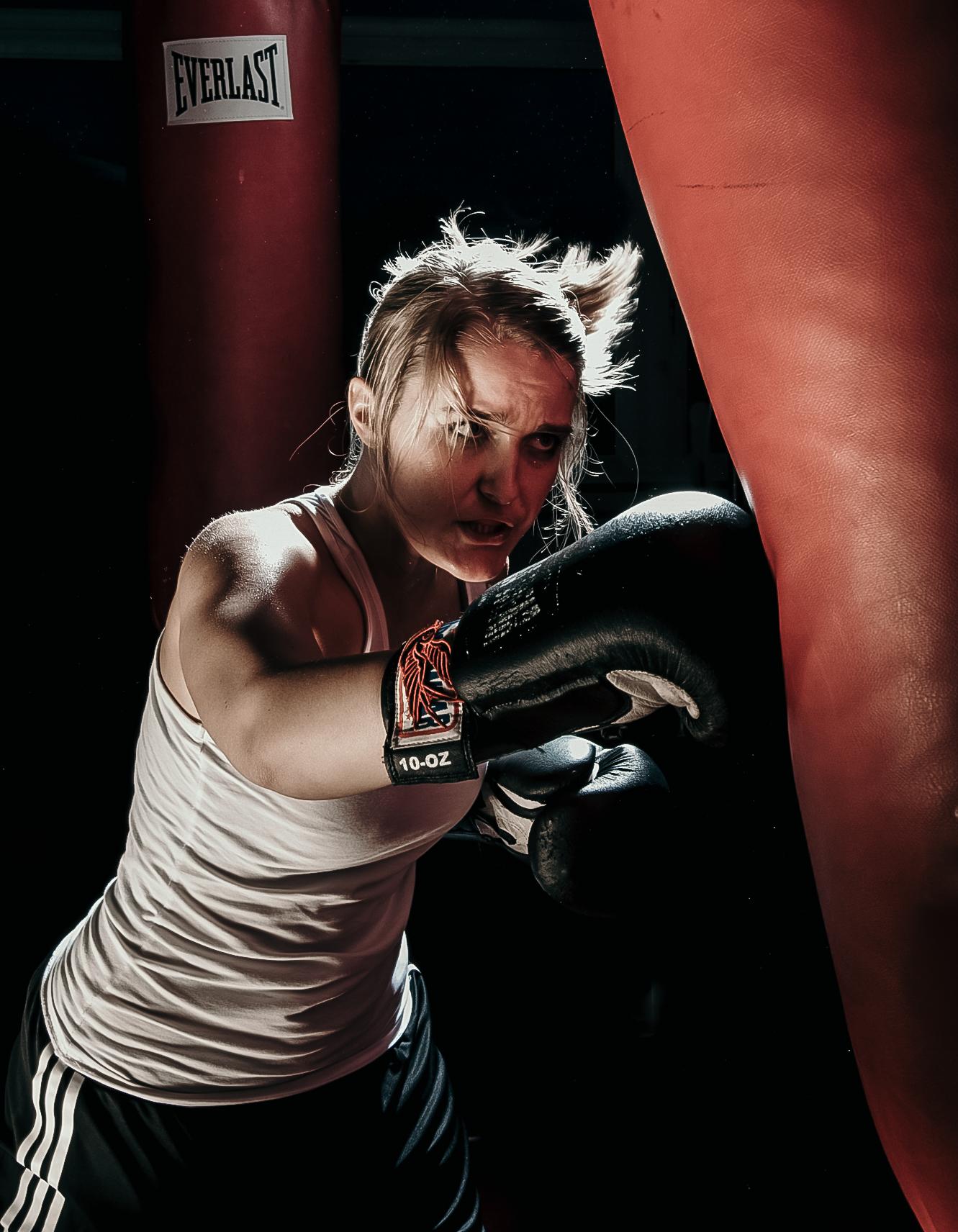Kickboxerin Ansgar Dlugos Fotografie